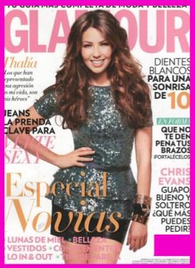 Thalia en revista glamour tv y espectaculos thalia diva for Revistas de espectaculos