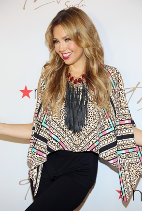 MIAMI, FL - OCTOBER 10: Thalia is seen at Macy's International Mall as she kicks off her fall collection on October 10, 2015 in Miami, Florida. (Photo by Alexander Tamargo/Getty Images)