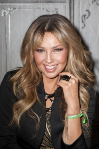 Thalia speaks onstage at the AOL BUILD on October 20, 2015 in New York City (10)