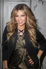 Thalia speaks onstage at the AOL BUILD on October 20, 2015 in New York City (13)
