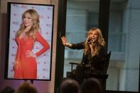 NEW YORK, NY - OCTOBER 20: Actress Thalia speak onstage at the AOL BUILD Presents: Thalia at AOL Studios In New York on October 20, 2015 in New York City. (Photo by Ryan Liu/WireImage)