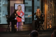 speaks onstage at the AOL BUILD Presents: Thalia at AOL Studios In New York on October 20, 2015 in New York City.