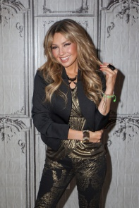 Thalia speaks onstage at the AOL BUILD on October 20, 2015 in New York City (9)